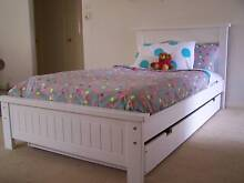 KING SINGLE BED & SINGLE TRUNDLE - AUSTRALIAN MADE - WHITE Melbourne CBD Melbourne City Preview