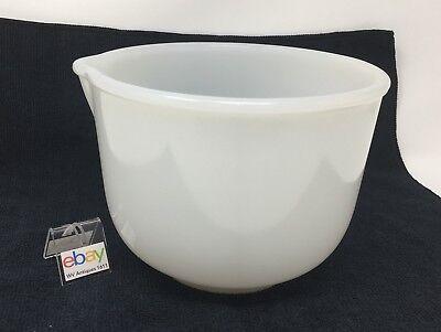 "Vintage Glasbake Milk Glass Mixing Bowl Made for Sunbeam #20-CJ-11, 6 1/2"" Dia."