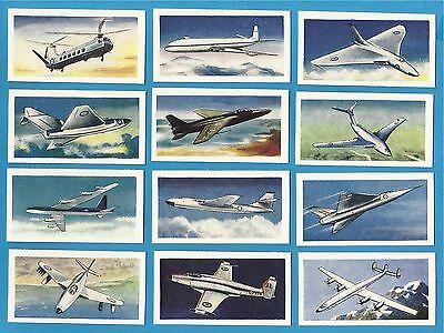Cigarette/Trade cards...AIRCRAFT OF THE WORLD - Full Original Set - 1958