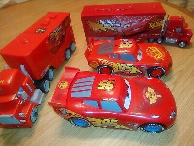 Disney Pixar Cars Light up Lightning McQueens and Haulers!!