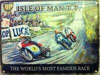 Isla De Man Tt,carreras Motos,clásico/clásico Grande Metal/muestra La Lata,foto -  - ebay.es