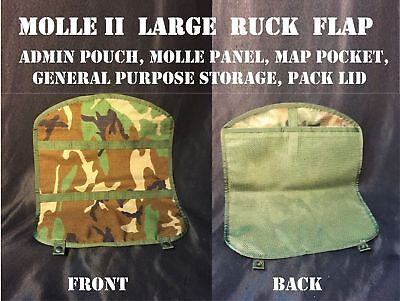 MOLLE II PANEL LARGE RUCK FLAP MAP POCKET ADMIN GENERAL PURPOSE POUCH WOODLAND (General Admin Pouch)