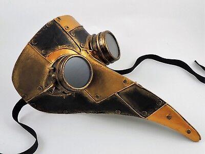 Authentic Venetian Plague Doctor Mask Futuristic Steampunk – Aged Copper (Venetian Doctors Mask)