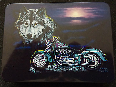 collectible SET POCKET WATCH & heavy  knife  *VOLF* motocicle  biker