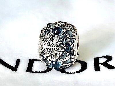 new Authentic  Pandora silver bead charm Oceanic Starfish Frosty Mint 791905 g