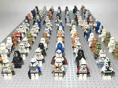 Lot of 4 RANDOM Lego Star Wars Minifigures Lot Clone Storm Troopers Commander Lego Star Wars Clone