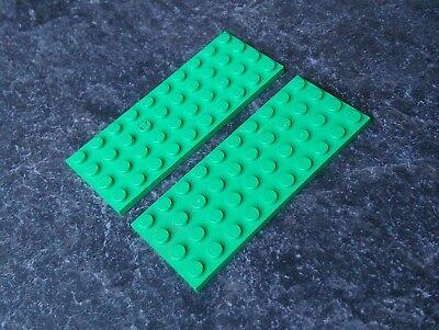 LEGO PLATES 4X10 3030 LIGHT GREEN X2