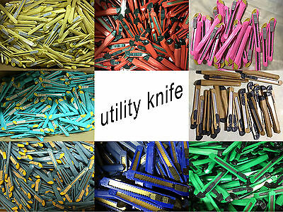 Wholesale Lot 100 Retractable Utility Knives Wearhoue Pop Cutters Snap Off Knife
