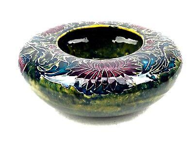 Antique Morris Ware Art Nouveau Center Piece Bowl Signed George Cartlidge RARE