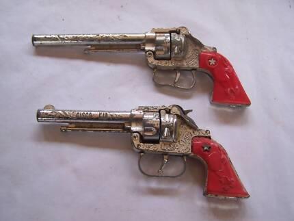 Vintage Cisco Kid Lone Star & Bar Ranch Cap Gun x 2 Wynyard Waratah Area Preview