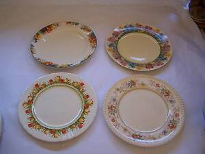 Miss Matched Entree Plate x 4 Plates Shabby Chic Mad Hatter Wynyard Waratah Area Preview