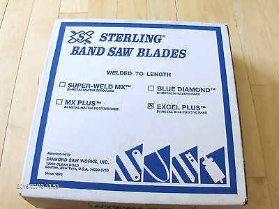 2    STERLING  BAND SAW BLADES  TYPE EXCEL PLUS BI-METAL M-42 POSITIVE RAKE MIB