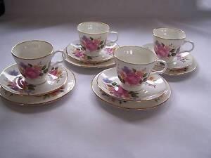Pretty Pink Rose Trio x 4 Trios CAN POST High Tea Wynyard Waratah Area Preview