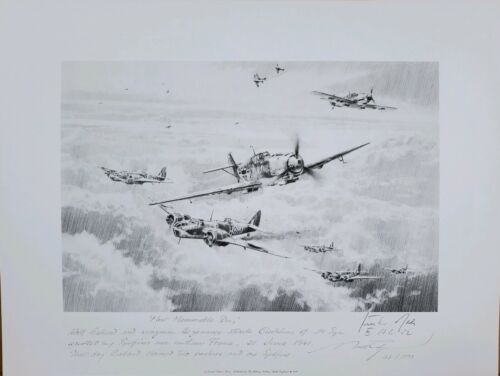 Most Memorable Day - Final Drawing by Robert Taylor with Günter Rall Signature