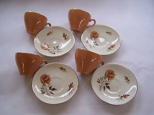 Swinnertons Orange Rose Tea Cup & Saucer x 4 CAN POST Wynyard Waratah Area Preview