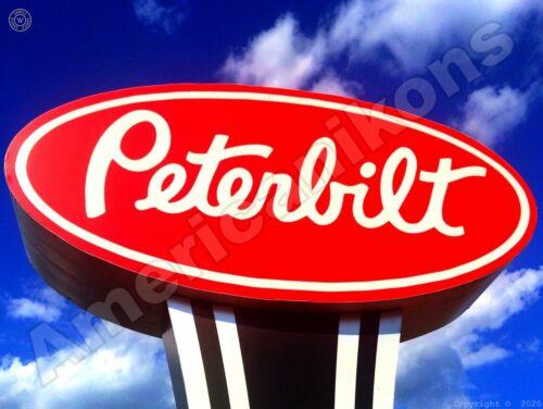 Peterbilt Trucks Dealership Logo New Metal Sign: Great Angle!