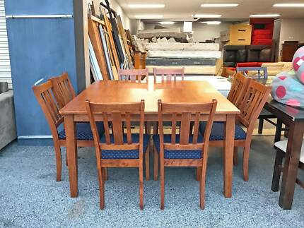TODAY DELIVERY 9 Pcs STRONG SOLID WOODEN Dining Table Chairsdining In Perth Region WA Tables Gumtree