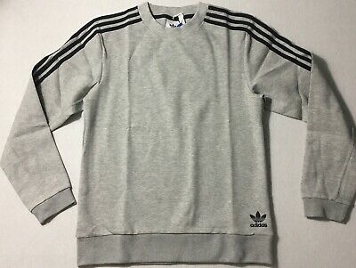 Adidas Men's Curated CrewQ2 Crewneck Sweater Gray CW2529 Size 2XL