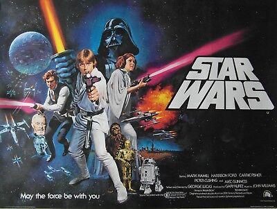 Original 1977 'Star Wars' Pre-Oscar UK Quad Poster.