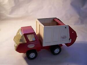 Red Tonka Rubbish Collection Truck 1970's CAN POST Wynyard Waratah Area Preview