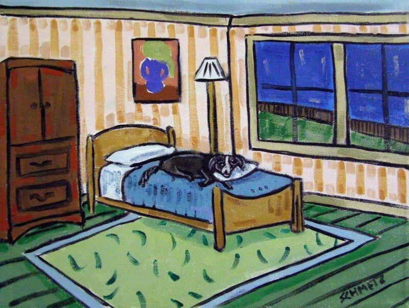 BORDER COLLIE dog art    modern bedroom      8.5x11 glossy photo print