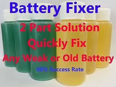 Forklift Battery Repair Liquid Solution- 36 Volt Hawker Deka Crown 36 Bottles