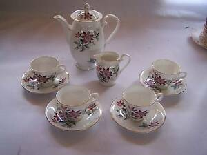 Royal Grafton Demitasse Coffee Pot Tea Cup & Saucer x4 & Milk Jug Wynyard Waratah Area Preview