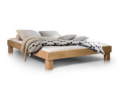 PUMBA Doppelbett Futonbett 180x200 Massivholz Fichte eichefarbig ohne Kopfteil ()