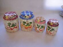 UGLY Shabby Chic Kitsch Canister Set of 4 CAN POST Wynyard Waratah Area Preview