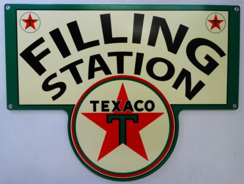 Texaco Gasoline Filling Station Plasma Cut Metal Sign