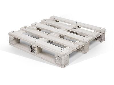 Palette 70x70 cm Fichte weiß lackiert DIY Palettenmöbel Holzpaletten Massivholz