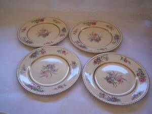 Shabby Chic Simpsons Potters Entree Plate x 4 Plates Wynyard Waratah Area Preview