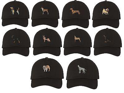 DOG BREEDS Dad Hat Embroidered Beagle Bulldog German Shepherd Pug Baseball Caps (German Shepherd Beagle)