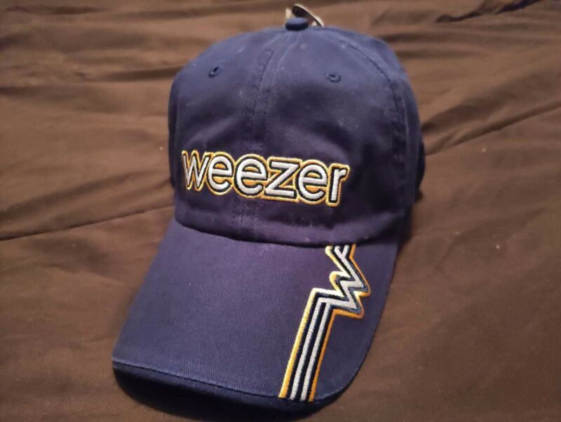 Original 2003 Weezer hat - navy blue - Brand new with tags - One Size Fits Most