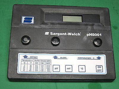 Sargent-welch Ph Meter Model 8001 Lab Test Needs Probes