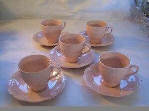 J & G Meakin Rosa Tea Cup & Saucer x 5 CAN POST Wynyard Waratah Area Preview