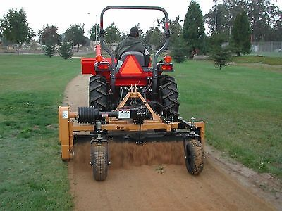 Harley Power Landscape Rake For Tractors 3 Point Hitch 7 Wide Hydraulic Angle