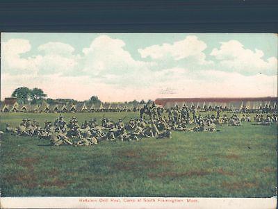 USA Battalion drill Rest. South Framingham Mass. 1908