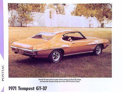 1971 Pontiac Tempest Gt 37 350 400 455 Ci Info Spec Photo Prices Production 11X8