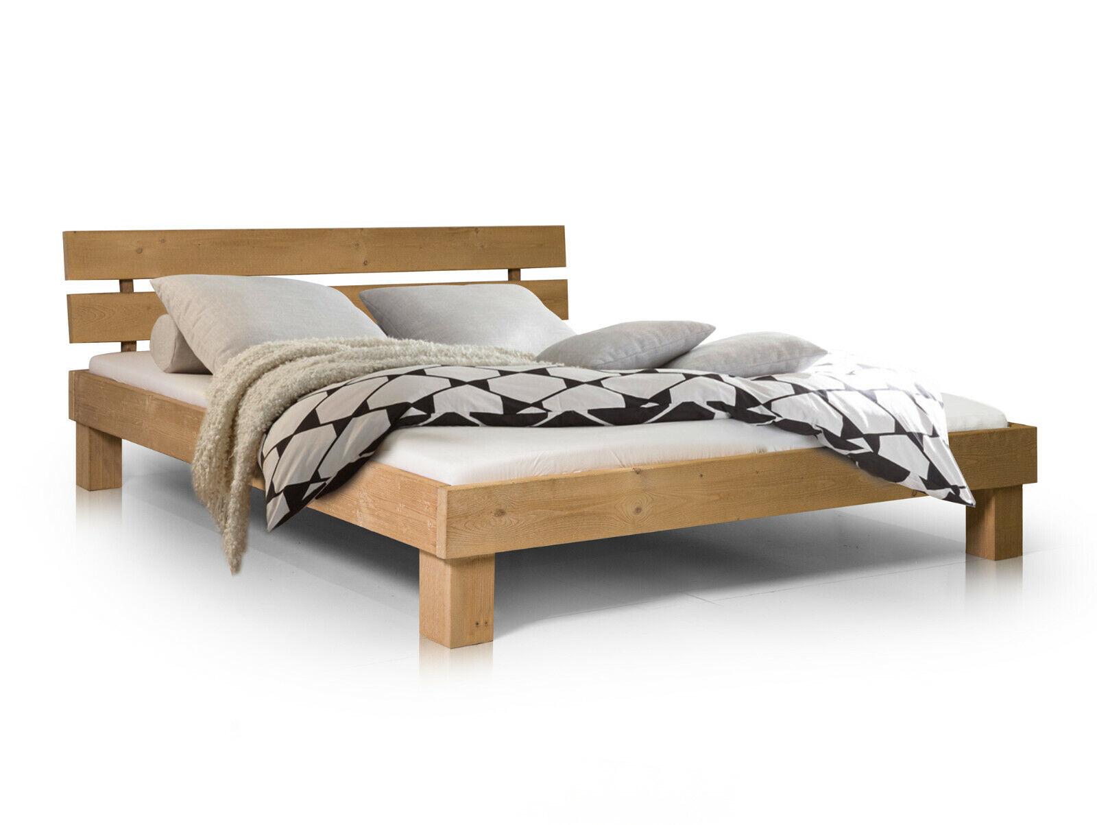 Bett Massivholzbett Doppelbett PUMBA alle Größen Fichte 3 Farben 100%Handarbeit