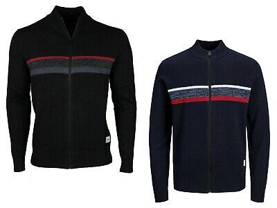 Jack & Jones Mens Cardigan Zip Up Knitted Long Sleeve Classic Jacket