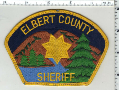 Elbert County Sheriff (Colorado) 2nd Issue Uniform Take-Off Shoulder Patch