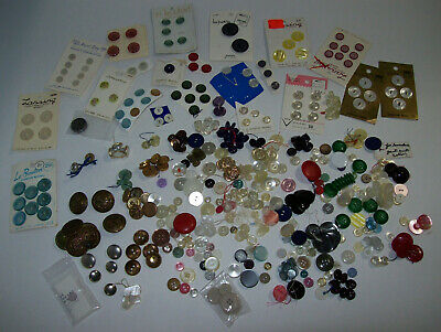 Vintage Buttons Black 60 Various Sizes Styles Rhinestones Assemblage Jewelry Vintage Clothing Art Crafts Photo And Frame Not Included