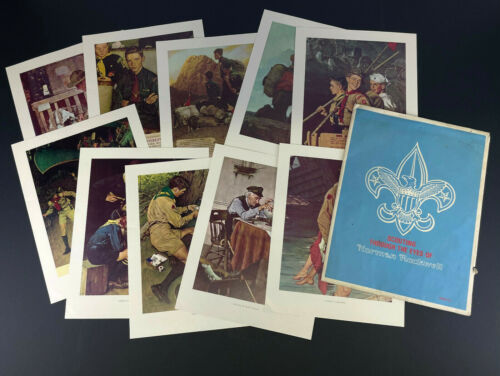 VTG SCOUTING THROUGH THE EYES OF NORMAN ROCKWELL COMPLETE SET SERIES III #3003!