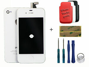 iPhone 4 LCD Retina Display Touchscreen + Backcover Glas  Weiss + Homebutton