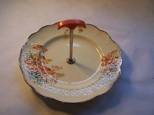 Art Deco J & G Meakin Floral Sunrise Cake Plate CAN POST Wynyard Waratah Area Preview