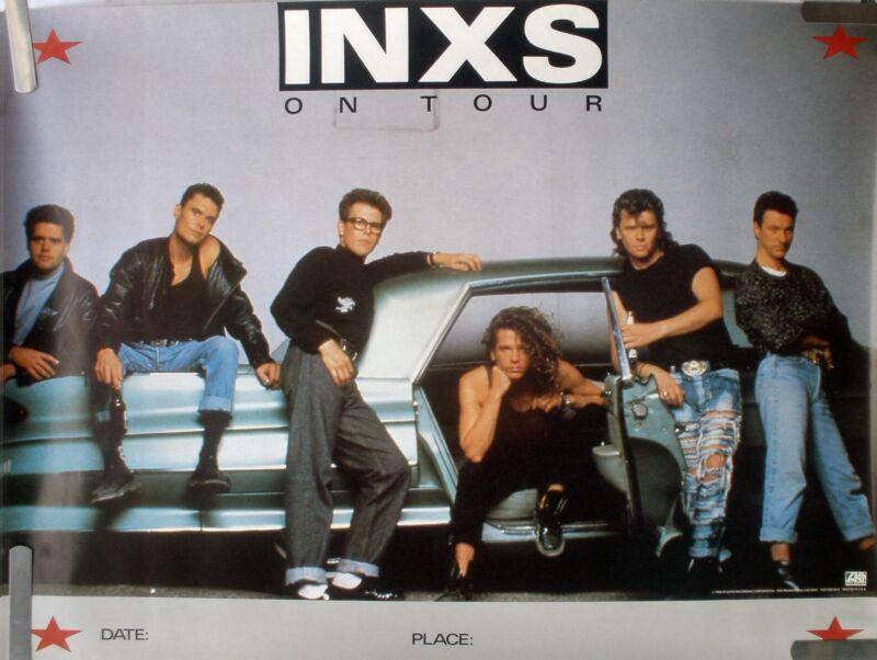 RARE INXS ON TOUR 1988 VINTAGE ORIGINAL MUSIC PROMO POSTER