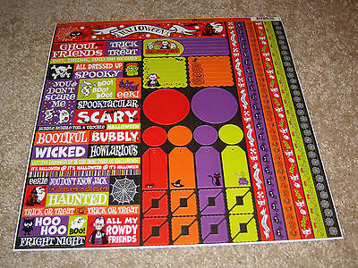 Halloween Party Phrases (Reminisce 12x12 DieCut Sticker Sheet ~ Halloween Party)