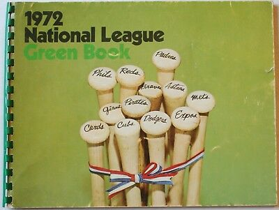 1972 National League Green Book Stats Ballparks Rosters Awards Baseball