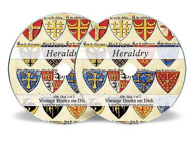 HERALDRY 300 Rare Books on DVD Family Crest History Coat of Arms Armorial Art (Family Crest Heraldry)